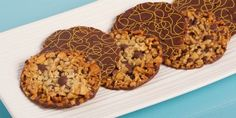 Classic Florentine Cookies  --  delicious, decorative cookies for Christmas giving, or eating.