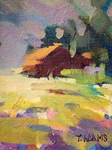 Sunny Field by Trisha Adams Oil ~ 8 x 6