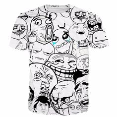 Viral Internet Meme Faces Funny Design Casual Style T-shirt    #Viral #Internet #Meme #Faces #Funny #Design #Casual #Style #T-shirt