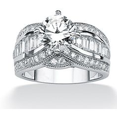 @Overstock.com - Ultimate CZ Platinum over Silver Cubic Zirconia Ring - Clear cubic zirconia engagement ringPlatinum over sterling silver jewelryClick here for ring sizing guide  http://www.overstock.com/Jewelry-Watches/Ultimate-CZ-Platinum-over-Silver-Cubic-Zirconia-Ring/6596399/product.html?CID=214117 $66.99