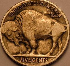 1924 P Buffalo Nickel Very Fine Coins make Cents by riggsbyscorner, $5.50