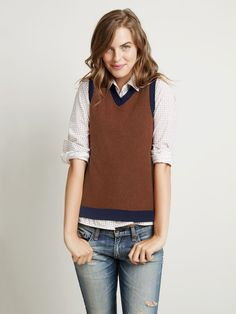Ways To Wear A Sweater Vest, Sweater Vest Style & Fashion ...