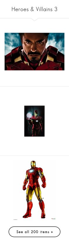 """""""Heroes & Villains 3"""" by xx-black-blade-xx ❤ liked on Polyvore featuring avengers, iron man, marvel, people, superheroes, pictures, home, home decor, wall art and black framed wall art"""