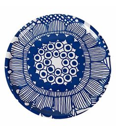 "Punchy pattern Marimekko ""Siirto"" large round tray in Blue/White Marimekko, Surface Pattern, Surface Design, Painting Inspiration, Design Inspiration, Pottery Painting, Color Theory, Tool Design, My Favorite Color"