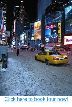Snow in New York City. #nyc #tours #bus_tours