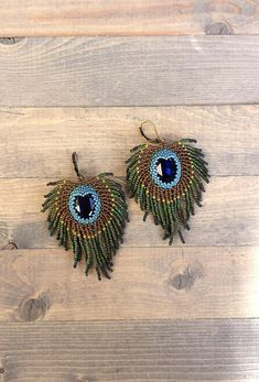 Indian Peacock Feather earrings
