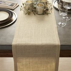 Gold Jute Table Runners | Crate and Barrel