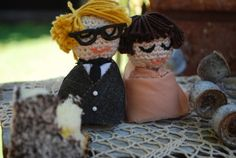 Cake Toppers: DIY Wedding by Fickle Sense | Project | Sewing | Crochet / Decorative | Toys | Weddings | Kollabora