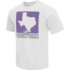 Colosseum Athletics Men's TCU Horned Frogs Black State of the Union T-Shirt, Size: Large