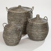 Jamilia Lidded Storage Basket Collection
