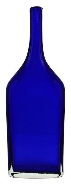 Blue Murano Bottle by Gino Cenedese #cobalt #blue #murano