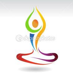 Yoga Mental Peace — Stock Vector #29555309