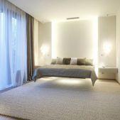 Modern Floating Bed Design with Under Light Ideas 5 Home Bedroom, Modern Bedroom, Bedroom Decor, Bedroom Ideas, Minimalist Bedroom, Bedroom Inspo, Bedroom Designs, Bedroom Wall, Loft Design