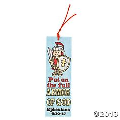 """Color Your Own """"Armor Of God"""" Bookmarks"""