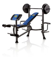 Marcy Standard Bench with 80 lb Weight Set with Butterfly Home Gym | MWB36780B - FREE 1-3 DAY DELIVERY WITH HASSLE-FREE, 60-DAY RETURNS! #with #butterfly #home #weight #marcy #bench #standard