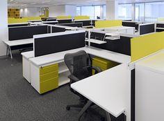 Office design where color adds a punch to the environment 90degreeofficeconcepts.com