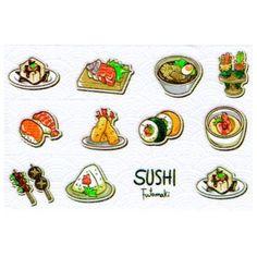 Masking tape sushi washi tape brochette sashimi tenpura Masking Tape, Washi Tape, Sushi, Chibi, Kawaii, Duct Tape, Sushi Rolls