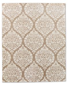Damasco Rug - Latte, if you pick colorful tile, something neutral like this could work for the Dining room!