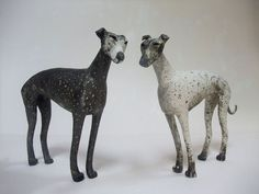 Bath Academy of Art, Ceramics B. A. 1st class hons. Description from studiopottery.co.uk. I searched for this on bing.com/images Paper Mache Sculpture, Bird Sculpture, Animal Sculptures, Ceramic Sculptures, Ceramic Figures, Ceramic Artists, Dog Zodiac, Greyhound Art, Ceramic Animals