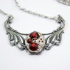 Red Gem And Chain Strands