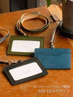 【楽天市場】商品カテゴリ > カードケース > IDケース > MB IDストラップ:ステーショナリー工房スリップオン Minimalist Wallet, Envelope Clutch, Id Holder, Leather Working, Wallets For Women, Leather Craft, Card Case, Leather Wallet, Badge