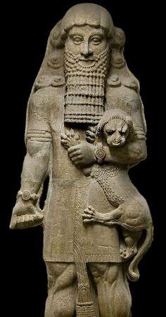 Colossal statue of the Sumerian hero 'Gilgamesh' ruler of the URUK. Plaster cast © Staatliche Museen zu Berlin, Vorderasiatisches Museum / photo: Olaf M. Ancient Aliens, Ancient Egypt, Ancient History, Art History, European History, Ancient Greece, American History, Ancient Mesopotamia, Ancient Civilizations