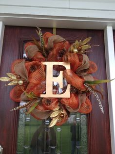 Initial fall wreath