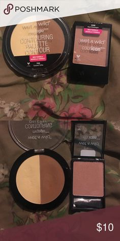 Wet n Wild Rose Champagne Blush (new) and Caramel Toffee Contour Palette (slightly used) wet n wild Makeup Blush