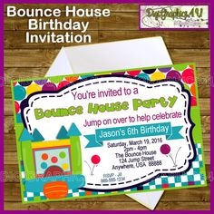 Kids Bounce House Inspired Printable Birthday by DigiGraphics4u