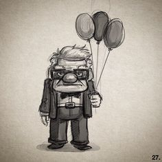 "Disney pixar "" up "" mr fredrickson disney sketches, disney drawings, disney pixar up Disney Sketches, Disney Drawings, Creepy Eyes, Best Pencil, Disney Pixar Up, Pixar Characters, Nature Artists, Simple Doodles, Fantasy Costumes"