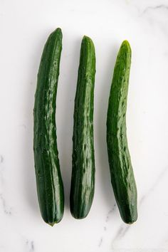 Have you seen Japanese cucumbers?  Known as Kyuri in Japanese, these cucumbers have beautiful forest green skin with long and slender bodies. They are excellent for salads, pickles and more! Learn more today! | Easy Japanese Recipes at JustOneCookbook.com