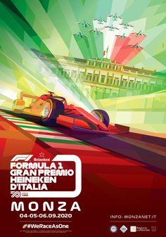 F1 Monza GP official poster Designed by @Foolbite and @Tsevis #Formula1 #racing #Futurism #neofuturism #visualdesign #illustration Formula 1, Italian Grand Prix, Neo Futurism, Location History, Insight, Advertising, Ads, Racing, Illustration