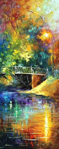 Aura of Autumn Set of 3 paintings PALETTE by AfremovArtStudio