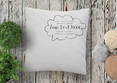 YOUR personal message hand printed on this beautiful throw pillow with clouds speak bubble frame by My Home and yours. Love Days, Pillow Quotes, Fabric Art, Valentine Gifts, Fathers Day, Birthdays, Throw Pillows, Messages, Art Prints