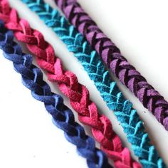 DIY Two Styles of Leather Braided Bracelets from Maryjanes and Galoshes here. Really easy and cheap DIY. If you can do a simple plain braid ...