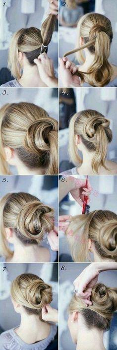 très facile à faire! pour cheveux longs et épais.