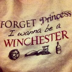Sadly, I can't wear my SPN shirt to school because the biggest flirt in the grade's last name is Winchester.