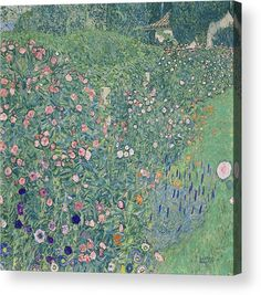Italian Garden Landscape Artwork By Gustav Klimt Oil Painting & Art Prints On Canvas For Sale Picasso, Landscape Artwork, Landscape Wallpaper, Claude Monet, Art Klimt, Art Encadrée, Art Sur Toile, Italian Garden, Garden Painting