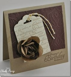 simply sketched, Stampin' Up!, Spiral Flower, Upcycling, Scalloped Tag Topper Punch, How to