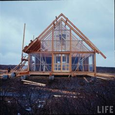 From Selvedge Yard. Jens Risom's pre-fab from Life Magazine.