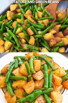 Fresh green beans, roasted potatoes, garlic, and flavorful seasonings make this Roasted Green Beans and Potatoes dish absolutely delicious. Whether you're cooking a simple weeknight dinner or something more elaborate, this side will be a snap to ma Healthy Meal Prep, Healthy Snacks, Healthy Recipes, Delicious Recipes, Keto Recipes, Dinner Healthy, Healthy Stir Fry, Healthy Lunch Wraps, Lunch Meal Prep