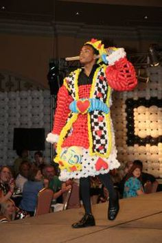 The king of cards balloon outfit.