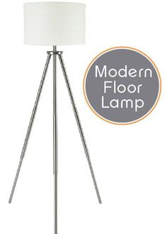 An ultra-cool tripod design, a brushed nickel finish, and a crisp paper drum shade make this floor lamp a contemporary masterpiece. Place it in your living room to illuminate and elevate your décor.