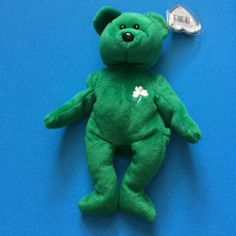 93db6097d10 Erin Bear - Retired Ty Beanie Baby - 1997 - Mint Condition by MNValuables  on Etsy
