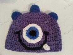 Parkers Purple Monster Beanie Hat FREE Crochet Pattern