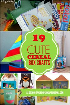 Have any empty cereal containers? You've got what it takes for cute crafts to make out of cereal boxes.