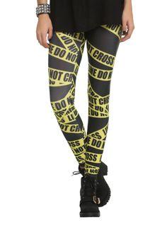 Do Not Cross Leggings   Hot Topic