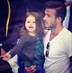 David Beckham with his daughter Harper.