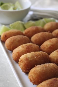 You can be sure all of your guests will be scrambling to try your  croquetas de jamón, or battered ham fritters.