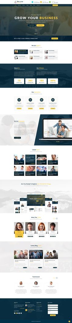 Deluxe Business PSD Template • Download ➝ https://themeforest.net/item/deluxe-business-psd-template/16588654?ref=pxcr